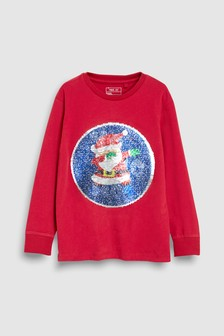 Sequin Change Christmas T-Shirt (3-16yrs)