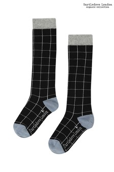 Turtledove London Black Grid Socks