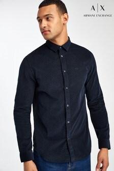 Armani Exchange Navy Polka Shirt