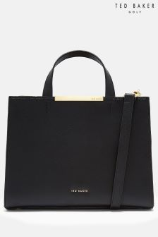 Ted Baker MADALYN Black Bow Embossed Tote Bag