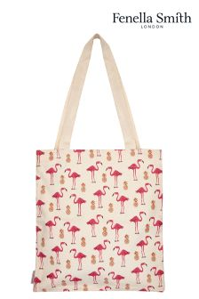 Fenella Smith Flamingo And Pineapple Tote Bag