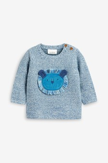 Lion Knitted Jumper (0mths-2yrs)