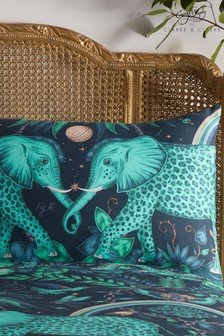 Set of 2 Emma Shipley Zambezi Elephant Cotton Pillowcases