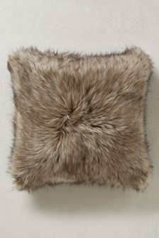 Tipped Faux Fur Cushion