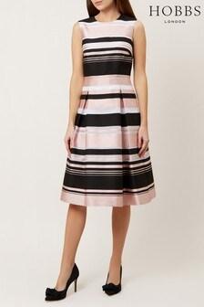 שמלת פסים ורודה דגם Bridgette של Hobbs