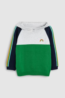Rainbow Colourblock Hoody (3mths-6yrs)