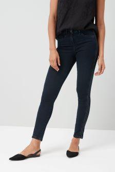 Beaded Side Stripe Skinny Jeans