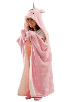 Unicorn Hooded Throw