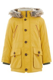 Monsoon Perry Mustard Parka Coat