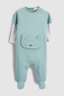 Crew Bear Sleepsuit (0mths-2yrs)