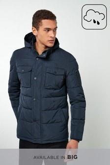 Jachetă matlasată cu guler înalt