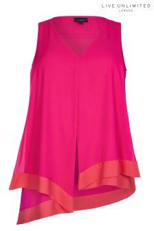 Live Unlimited Pink Asymmetric Vest