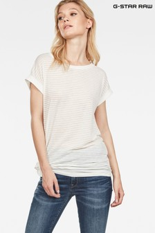 GStar Luge Knotted Cap Sleeve Top