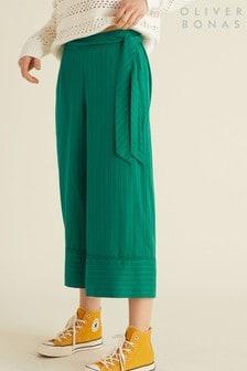 Oliver Bonas Green Pinstripe Culottes