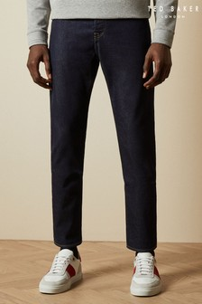 Ted Baker Starboi Straight Dark Wash Cotton Jeans