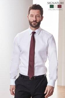 Signature Canclini Non-Iron Slim Fit Shirt