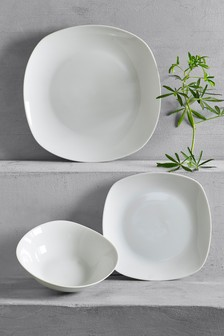 12 Piece Soft Square Dinner Set