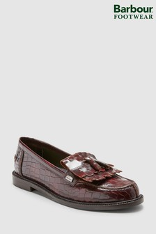 Barbour® Olivia Wine Croc Effect Loafer
