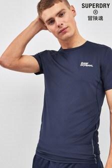Superdry Navy Camo Short Sleeve Tee