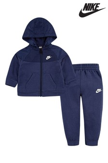 Nike Infant Navy Hoody And Joggers Set