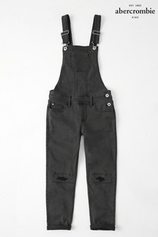 Abercrombie & Fitch Black Dungarees