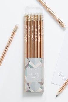 Set of 6 Quote Pencils
