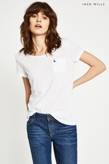 T-shirt Jack Wills Fullford pâle