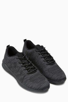 Mono Textured Knit Trainer