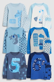 Printed Snuggle Pyjamas (12mths-6yrs)