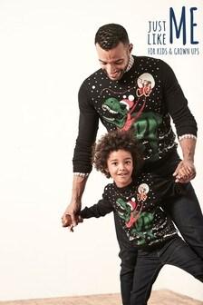 Mens T-Rex Christmas Jumper
