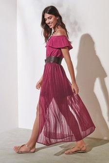 金屬光燦長裙