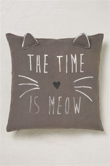 The Time Is Meow Cushion