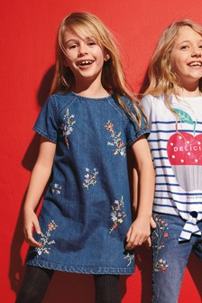Embroidered Shift Dress (3-16yrs)