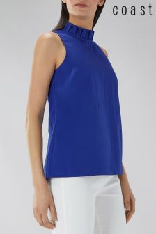 Coast Blue Roxy Frill Top