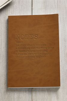 Faux Leather Notes Notebook