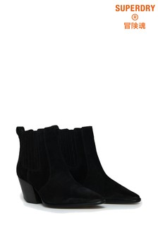 Superdry Black Heeled Chelsea Boots
