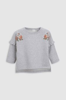 Floral Embroidered Sweatshirt (3mths-6yrs)