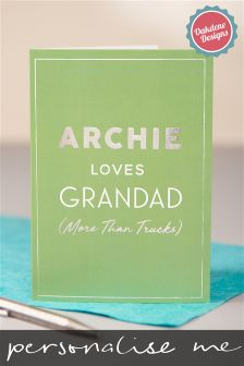 Personalised Grandad Fathers Day Card By Oakdene Designs