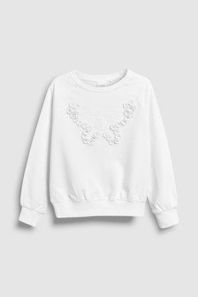 Embroidered Butterfly Crew (3-16yrs)