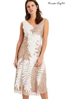 Phase Eight White Denise Tapework Dress