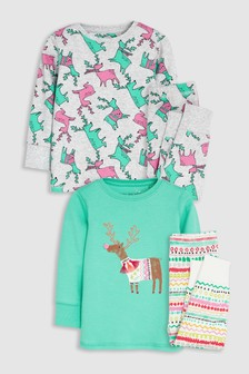Deer Snuggle Pyjamas Two Pack (9mths-8yrs)