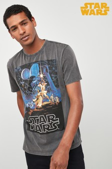 Star Wars™ Grafik-T-Shirt in Acid-Waschung
