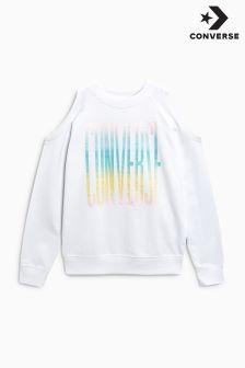 Converse White Cold Shoulder Sweatshirt