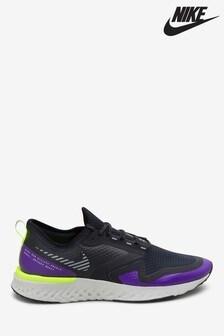 Nike Run Black/Grey Odyssey React 2 Shield Trainers