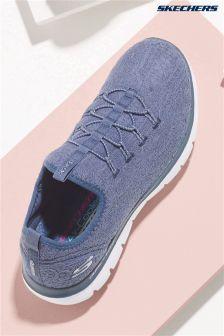 Skechers® Grey Flex Appeal 2 Clear Cut Slate Crochet Bungee S