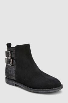 Suede Buckle Boots (Older)