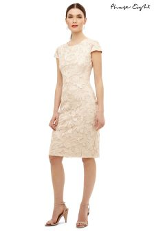 Phase Eight Cream Cordielia Tapework Dress