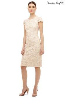 Phase Eight Cream Cordielia Tapework Dress