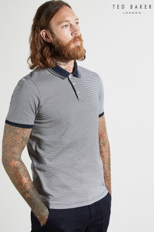 Ted Baker Pool Short Sleeve Striped Poloshirt