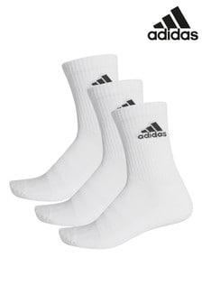 Lot de trois paires de chaussettes basses adidas blanches pour adulte